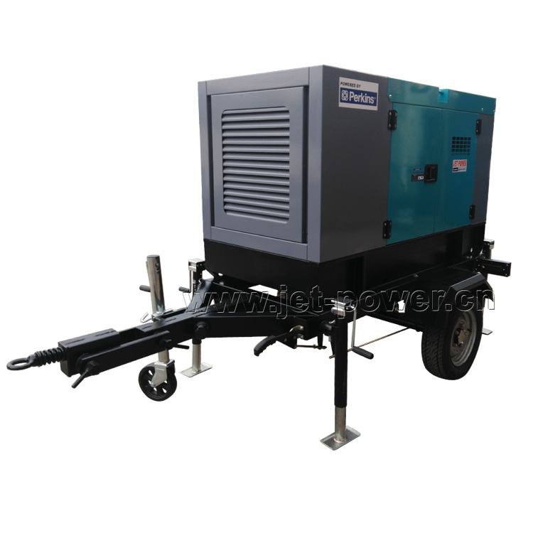 Trailer Type diesel generator set with 2 wheels